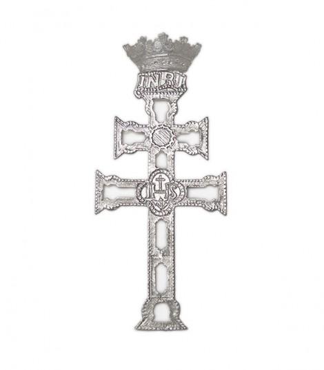 Cruz de Caravaca Cofrade de Plata Calada