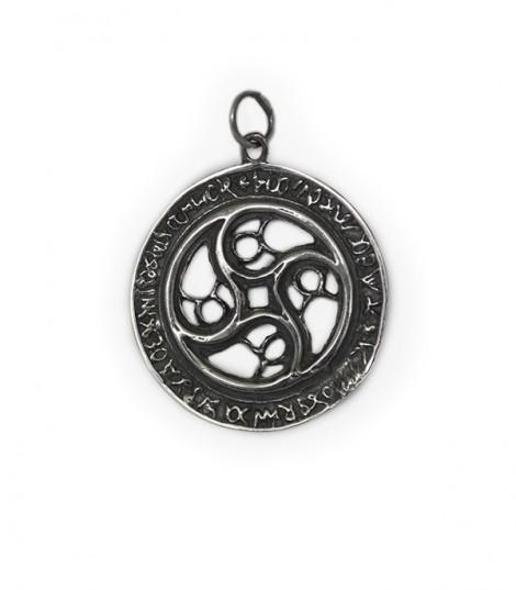 Medallón Ventana de Aparición de la Cruz de Caravaca en Plata